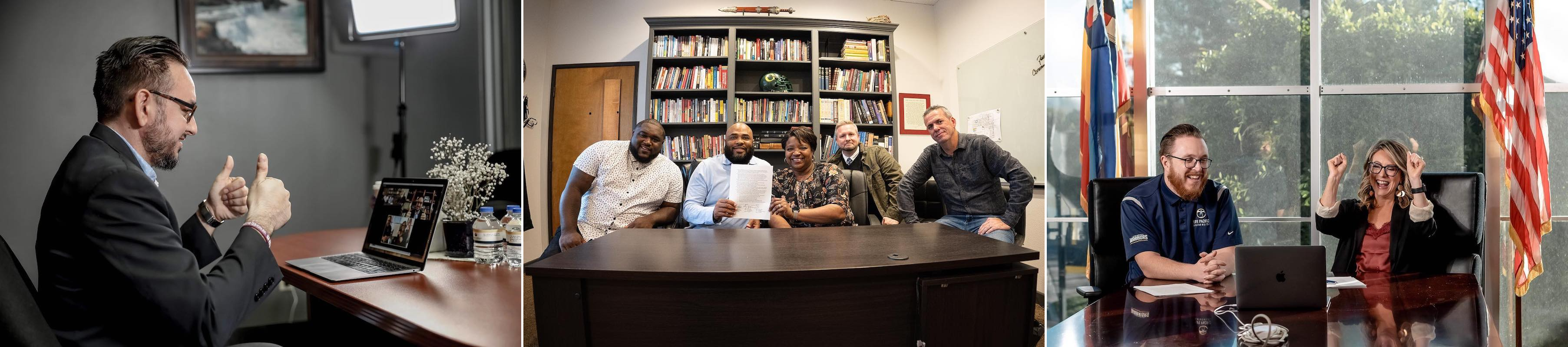 Photos from the virtual signing event with Pastors Keith and Coco Jenkins at East Hill Church in Gresham, Oregon.