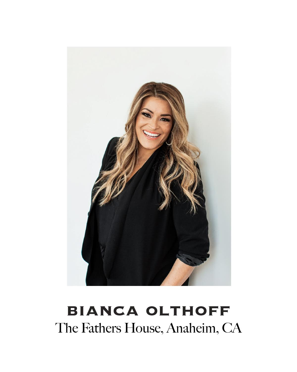 Picture of Bianca Olthoff, Pastor at The Fathers House in Anaheim, California.