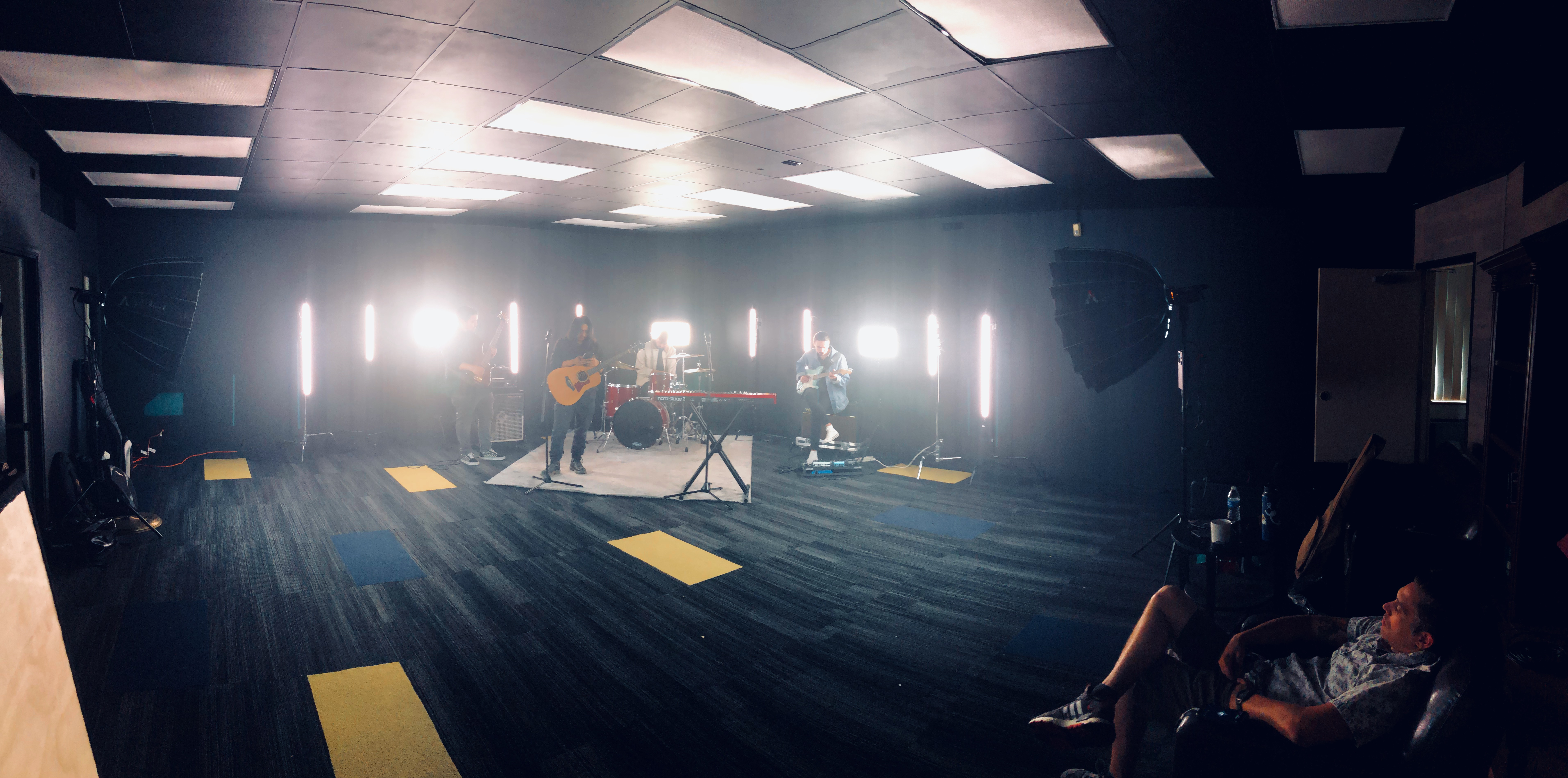 Worship and Media Arts department shooting music video