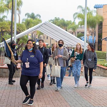 Future students touring our San Dimas campus