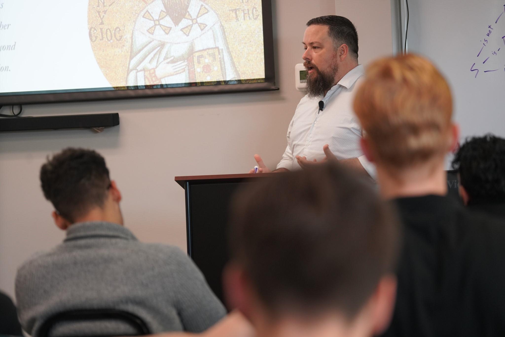 Ryan Lytton Teaching in Classroom