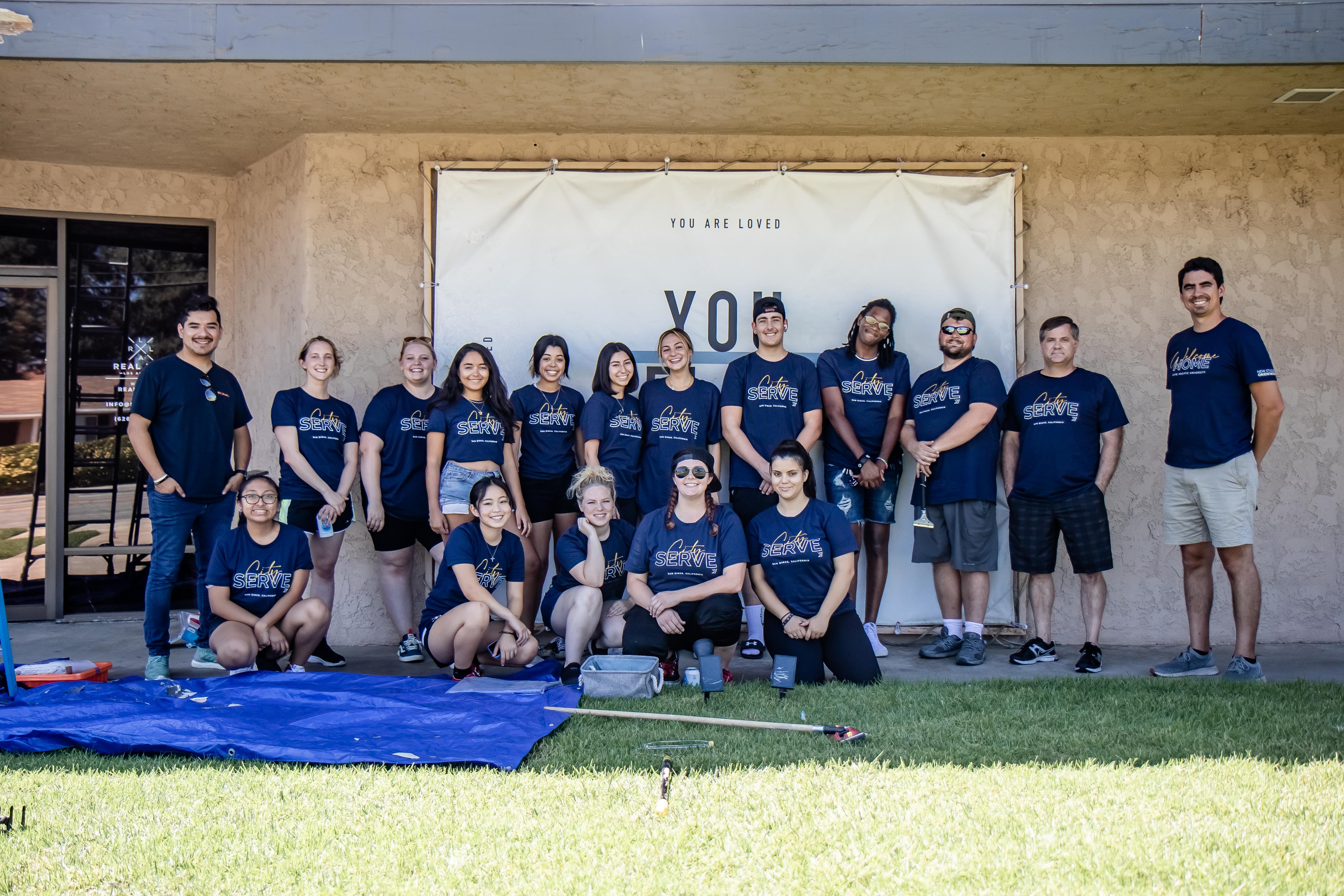 Group photo of LPUs City Serve team